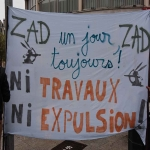 Manifestation contre l'expulsion de la ZAD de NDDL le 9 avril 2018 photo n°1