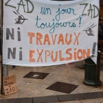 Manifestation contre l'expulsion de la ZAD de NDDL le 9 avril 2018 photo n°2