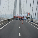 Action des cheminots sur le pont de Normandie le 12 juin 2018 photo n°8