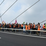 Action des cheminots sur le pont de Normandie le 12 juin 2018 photo n°13