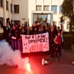 Action contre la sélection à l'Université le 23 février 2018 photo n°1